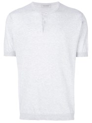 John Smedley Classic Fitted T Shirt Grey