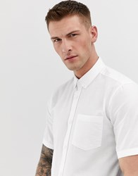 Only And Sons Short Sleeve Shirt White