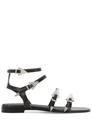 Zadig And Voltaire 10Mm Used Leather Sandals Black