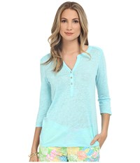 Lilly Pulitzer Mindy Tunic Breakwater Blue Women's Clothing