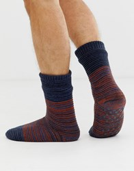 Totes Space Dye Socks In Navy