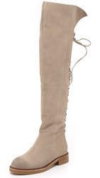 Jeffrey Campbell Bireli Over The Knee Boots Beige