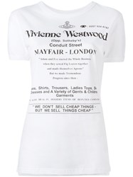 Vivienne Westwood Anglomania Logo Print T Shirt White