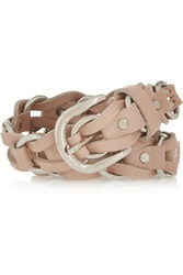 Isabel Marant Deakin Leather And Silver Tone Belt Nude
