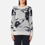 Samsoe And Samsoe Women's Tinga O Neck Jumper Papier Fleurie Multi
