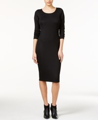 Bar Iii Knit Bodycon Midi Dress Only At Macy's Deep Black