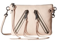 Rebecca Minkoff Moto Jon Crossbody Soft Blush Cross Body Handbags Pink