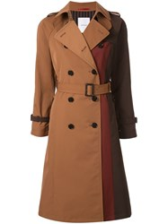 Loveless Deconstructed Double Breasted Coat Brown