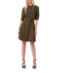 Miss Selfridge Safari Shirtdress Green