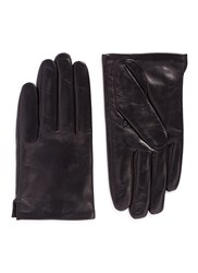 Ms Min Short Lambskin Leather Gloves Black