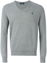 Polo Ralph Lauren V Neck Sweater Grey