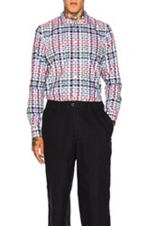 Kolor Plaid Shirt In Red Blue Checkered And Plaid Red Blue Checkered And Plaid