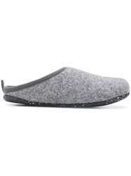 Camper Round Toe Slippers Grey