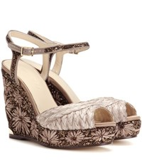 Jimmy Choo Perla 120 Wedges Beige