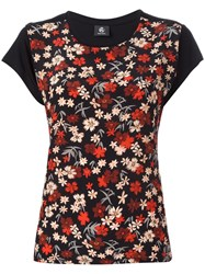 Paul Smith Ps By Floral Print T Shirt Black