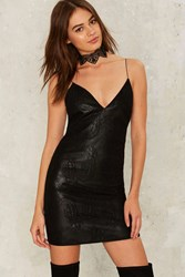Nasty Gal Good Night Vegan Leather Dress 71941