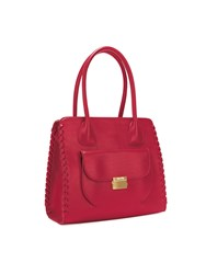 Folli Follie Fashion Braid Black Tote Bag Red
