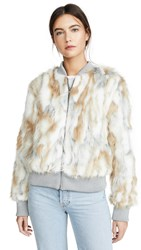 Cupcakes And Cashmere Sia Faux Fur Jacket Oatmeal