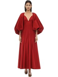 Khaite Long Joanna Cotton Twill Dress Red