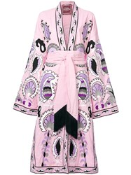 Yuliya Magdych Delight Embroidered Dress Cotton M Pink Purple