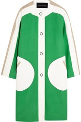 Jonathan Saunders Carmen Color Block Wool Coat Green