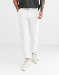 Celio Worker Trousers In White