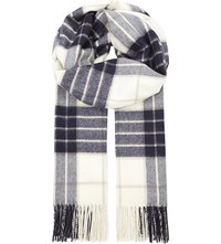 Johnstons Check Cashmere Stole Knockmore