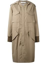 Golden Goose Deluxe Brand Hooded Coat Nude Neutrals