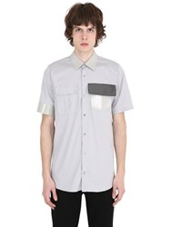 Jil Sander Vinyl Collar Stretch Cotton Poplin Shirt