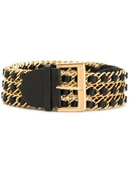 Chanel Vintage Triple Chain Belt Black