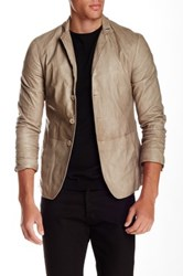 John Varvatos Genuine Lamb Leather Jacket Metallic
