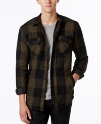 American Rag Men's Buffalo Plaid Shirt Jacket With Fleece Lining Only At Macy's Forest Night