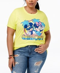 Disney Plus Size Mickey And Minnie Mouse T Shirt Sunny Lime