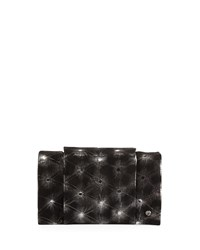 Halston Heritage Embellished Leather Wallet On A Chain Black Silver