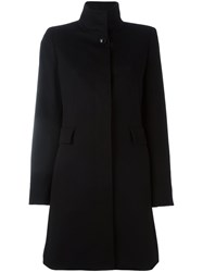 Max Mara Studio Stand Up Collar Coat Black