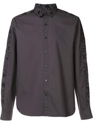 Wooyoungmi Embroidered Shirt Black