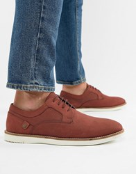 Red Tape Holker Casual Lace Up Shoes In Burgundy Red