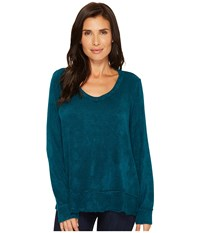 Mod O Doc Chenille Sweater Knit Forward Seam Long Sleeve Sweater Dark Jade Women's Sweater Green