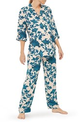 Topshop Women's Geo Floral Maternity Pajamas Blue Multi