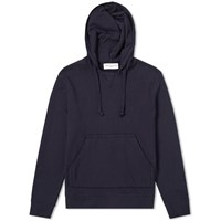 Officine Generale Pigment Dyed Popover Hoody Blue