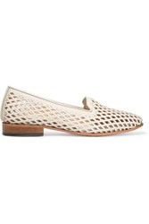 Dieppa Restrepo Dandy Cutout Leather Loafers White