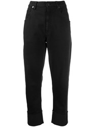 Brunello Cucinelli Cropped Straight Leg Jeans Black