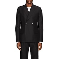 Martin Grant Wool Silk Double Breasted Tuxedo Jacket Black