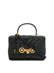 Versace Quilted Icon Dual Carry Bag Black