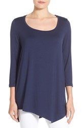 Nydj Women's 'Leah' Three Quarter Sleeve Asymmetrical Hem Tee