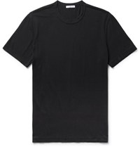James Perse Combed Cotton Jersey T Shirt Charcoal