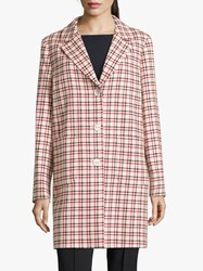 Betty Barclay Check Coat Rose Red