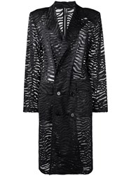 Adam Selman Double Breasted Trench Coat Black