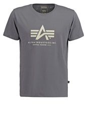 Alpha Industries Print Tshirt Grey Black Dark Gray