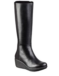 Easy Spirit Carlsy Leather And Stretch Boots Black
